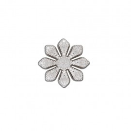Metal button Marguerite royale - silver