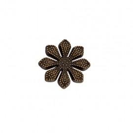 Bouton métal Marguerite royale - bronze