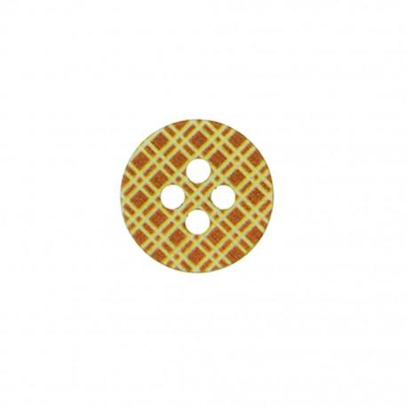 Bouton polyester Joli tartan - orange