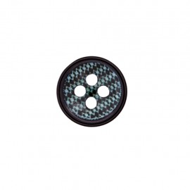 Bouton polyester Maille chic - noir