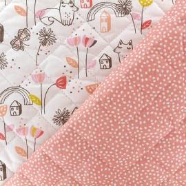 Quilted cotton fabric Tassi/mon jardin - coral x 10cm