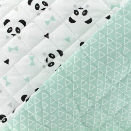 Quilted cotton fabric Nasua/maony - mint x 10cm