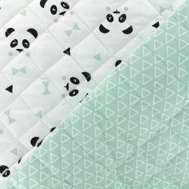 Tissu matelassé Nasua/maony - menthe x 10cm