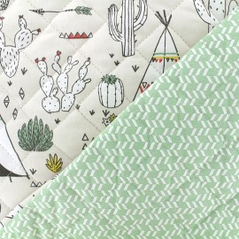 Quilted cotton fabric Desert Dream - mint x 10cm