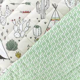 Tissu matelassé Desert Dream - menthe x 10cm