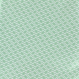 Djamena cotton fabric - green x 10cm