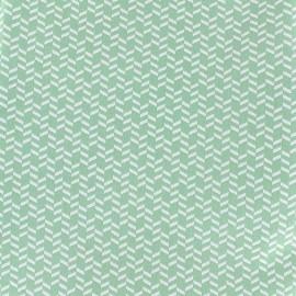 Tissu Oeko-Tex coton Djamena - vert x 10cm