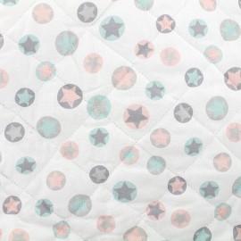 Tissu matelassé Lucia - turquoise x 10cm