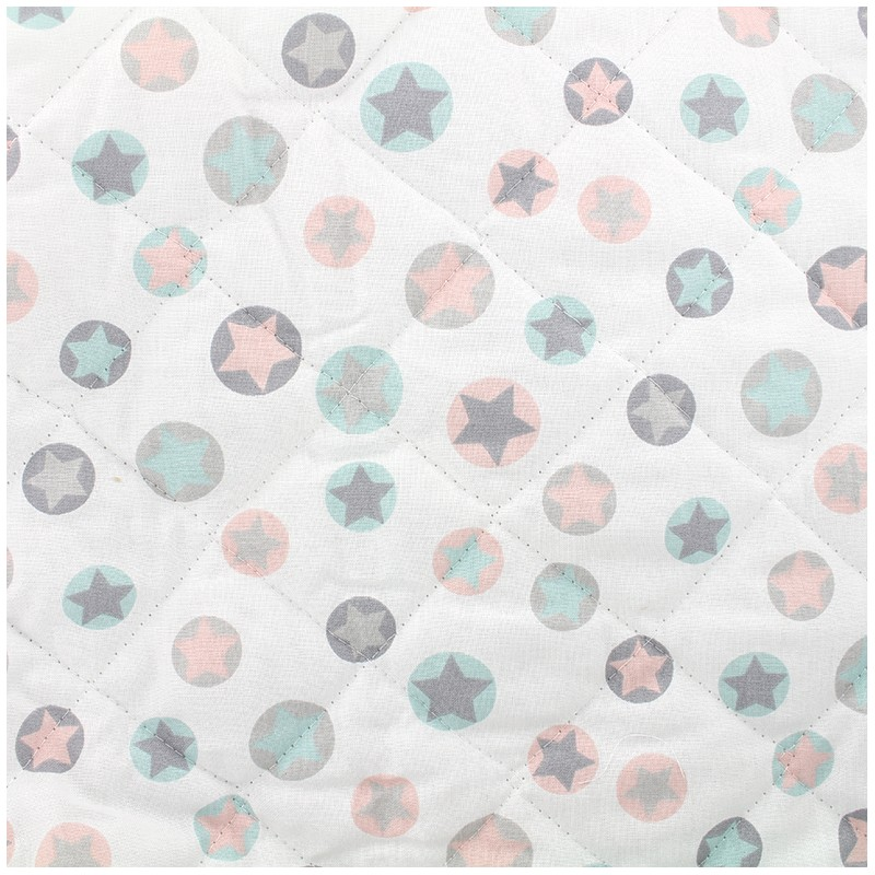 Quilted Cotton Fabric Lucia Turquoise X 10cm Ma Petite