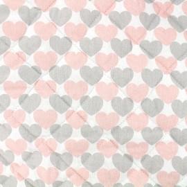 Tissu matelassé Kristina - rose x 10cm