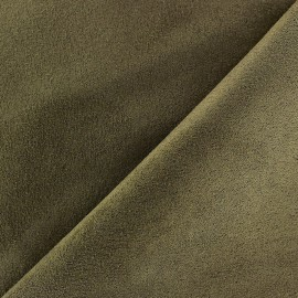 Suede Fabric - Volige Olive Green x 10cm
