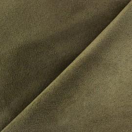 Tissu Suédine Volige Vert olive x 10cm