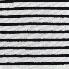 Loop sweat fabric Marinière - black x 10cm