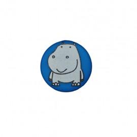 Bouton polyester Petit hippo- navy blue