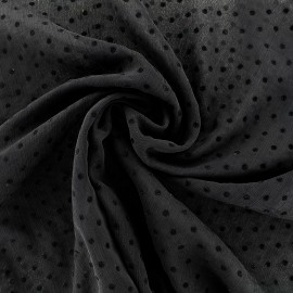 Muslin Fabric Pois - black x 50cm