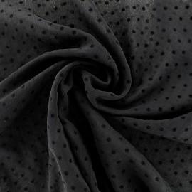 Tissu mousseline Pois - noir x 50cm