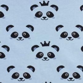 Tissu Jersey Panda - bleu x 10cm