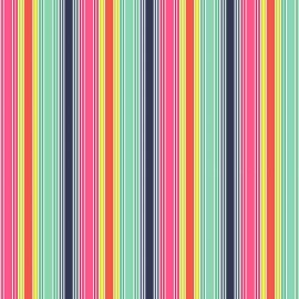 Tissu coton Makower UK Fantasy Stripe - multi x 10cm