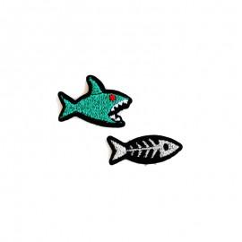 Thermocollant brodé Requin & arête - Macon & Lesquoy