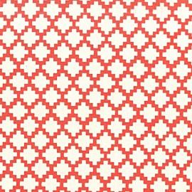 Tissu Steps - coral x 10cm