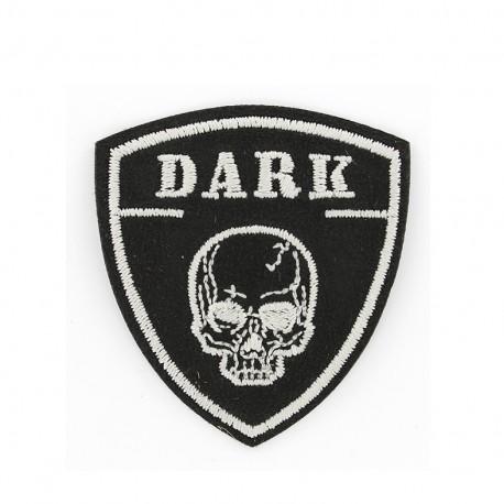 Dark iron on patch - black