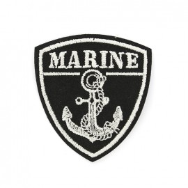 Marine iron on patch - black