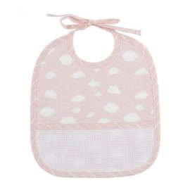 Joli nuage 3 months bib to embroider - pink