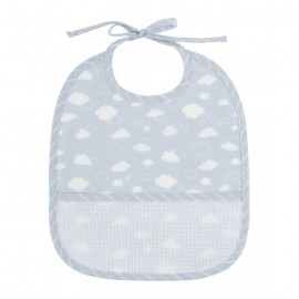 Joli nuage 3 months bib to embroider - blue