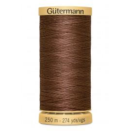 Bobine de Fil à coudre coton naturel Gutermann 250m - N°2724