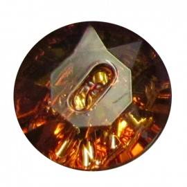 Crystal button - copper