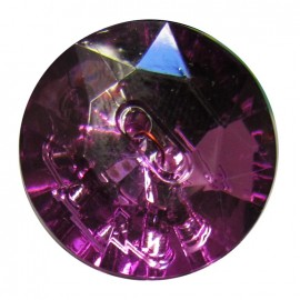Crystal button - purple