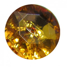 Crystal button - amber