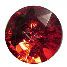 Crystal button - red