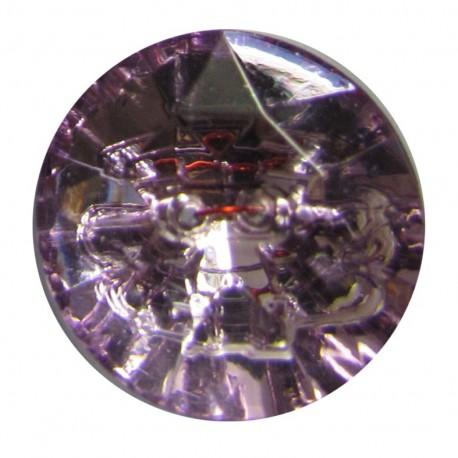 Bouton crystal Mauve
