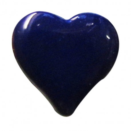 Heart-shaped button 15 mm - navy