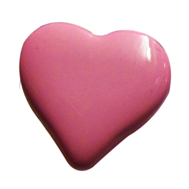Heart-shaped button 15 mm - fuchsia - Ma Petite Mercerie