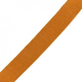 Lurex strap copper - caramel x 1m