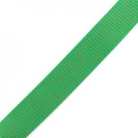 Lurex strap copper - green x 1m