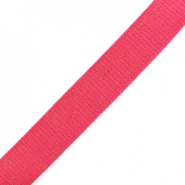 Sangle lurex cuivre - magenta x 1m