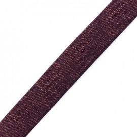 Sangle lurex cuivre - violet foncé x 1m