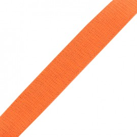 Sangle lurex cuivre - orange fluo x 1m