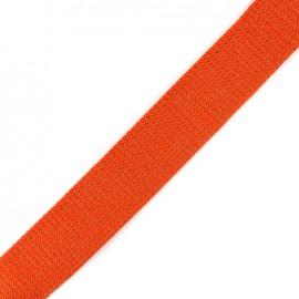 Lurex strap copper - deep orange x 1m