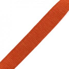 Lurex strap copper - cinamon x 1m