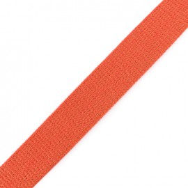 Sangle lurex cuivre - corail x 1m