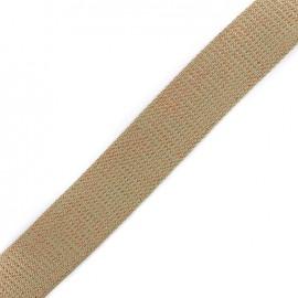 Lurex strap copper - taupe x 1m