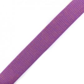 Lurex strap copper - purple x 1m