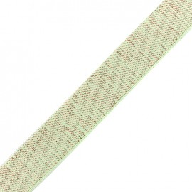 Lurex strap copper - light mint x 1m
