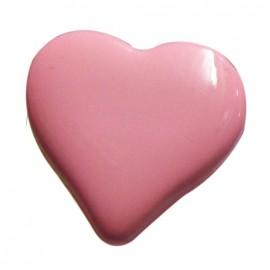 Bouton coeur rose pâle 15mm