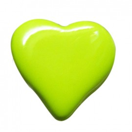 Heart-shaped button 15 mm - green