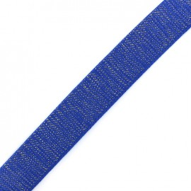 Lurex strap golden - royal blue x 1m